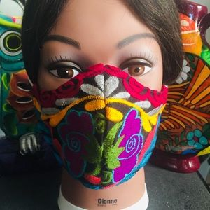 """Authentic Mexican embroidered handmade facemask!"